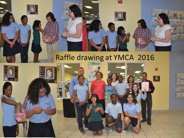 raffle drawing at YMCA 2016